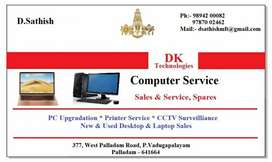 Computer service in customer place