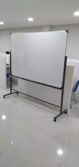 Whiteboard standing 120x 180cm non magnetic