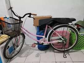 Sepeda cewe cocok buat belanja dan boncengan.