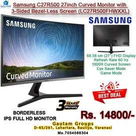 "Samsung 27"" curved led monitor ips borderless full hd 3year warranty"