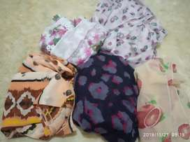 5 pcs jilbab wanita pashmina motif bagus murah