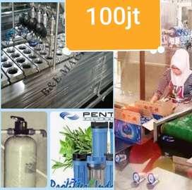 Mesin Pabrik Air kemasan gelas 100jt tmsk Lengkap konveyor