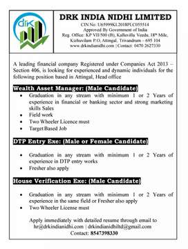 Job Vacancy in a reputed Public Company