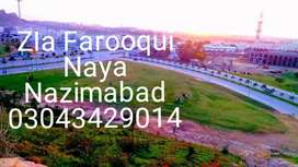 120 yards plot.  block C  Naya Nazimabad
