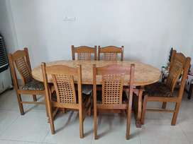 Dining table with 6 set of chair