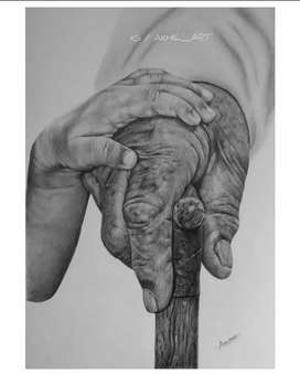 Hand made pencil drawing