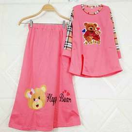Setelan baju anak happt bear - setellan baju muslim anak perempuan