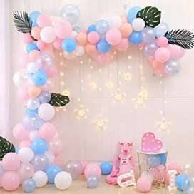 Balloon decoration work