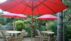 Kursi set meja dan payung kolam, tempat wisata, taman, kolam, cafe