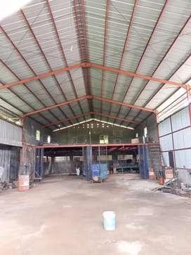 Disewakan gudang di jl ry cisauk dekat mall AEON bsd