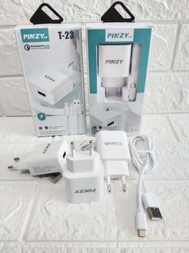 PROMO YAHH-CAS CHARGER TC CEPAT PINZY T23 MICRO USB -FAST CHARGING