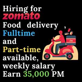 Hiring for Food delivery in Bilaspur