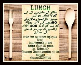Order HOME MADE LUNCH for Office Employees