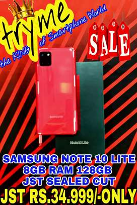 TRYME RED 8GB/128GB NOTE10 LITE Jst SEALED Cut