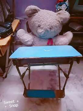 Combined Study table chair with huge teddy bear