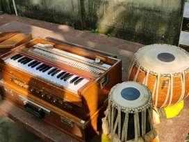 Harmonium and Tobla set.