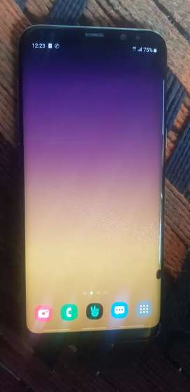 samsung s8 plus with full accesory  minor dot in screen