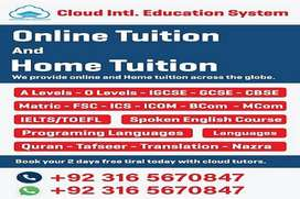 Get Home Tutor & Online Tutor for Maths/Physics/Biology/Chemistry etc
