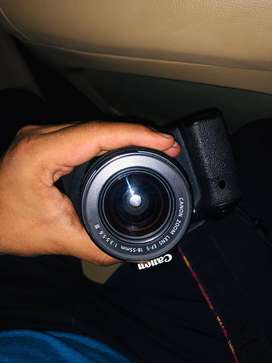 Canon 60 D with 55 mm lens