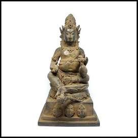 Patung Perunggu Dewa Kekayaan Kuwera Antik