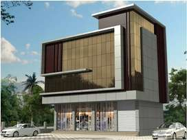 3200 sqft NEW COMMERCIAL BUILDING FOR SALE IN KAKKANAD