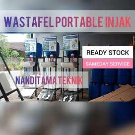 Wastafel unik (wastafel injak,portable,portabel,tnpa sentuh tangan)