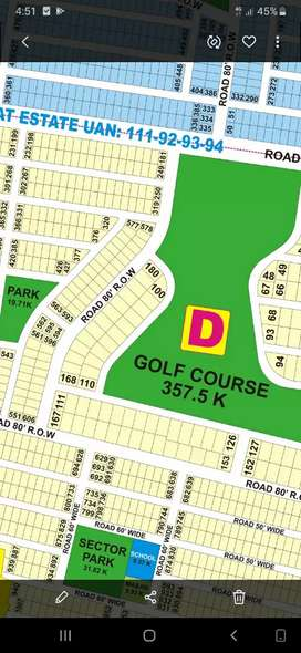 Dha Phase 9 Prism Lahore D block 1kanal plot near to golf course