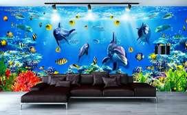 Wallpaper Dinding 3D Custom Desain.161687tg77