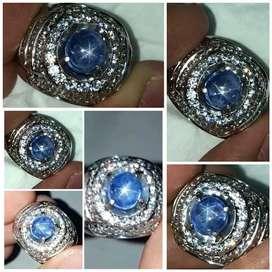 RARE item blue sapphire star lucu imut LANGKA!! Sapir safir saphire