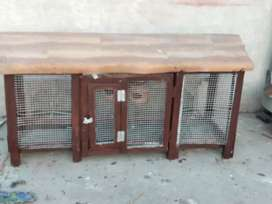 Birds house length 5ft and width 1.5ft