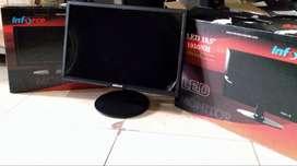 LED monitor 20 inch baru  superslim HDMI
