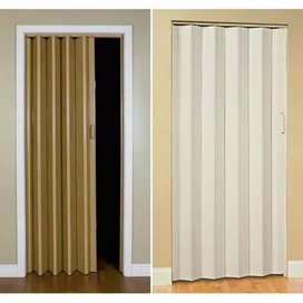 Pintu toilet lipat pvc / pintu kamar mandi / folding door pvc jonli