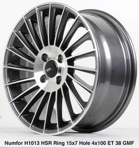 jual velg Model->NUMFOR 1013 HSR R15X7 H4x100 ET38 BMF