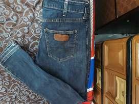 Wrangler Men Long Pant Denim Vegas - Blue, Ukuran 30