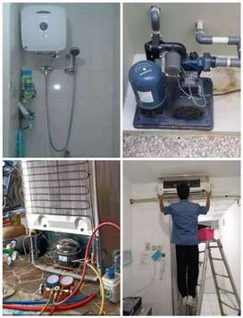 Pasang ac service ac Water heater Kulkas Pompa air mesin cuci