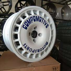 VELG AMW MOTOSPORT COMPOMOTIVE R15X7.0 PCD 4X100 BRIO,JAZZ,AGYA DLL