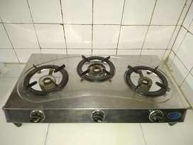 3 burner gas stove