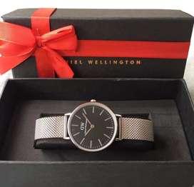 Jam tangan dw cewek magnetic free strap fullset