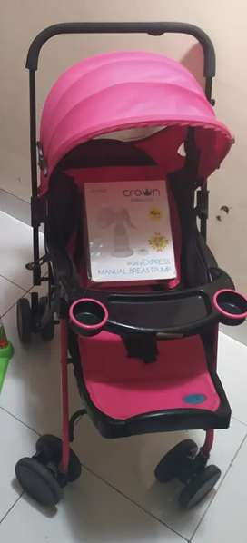 stroller otta warna pink