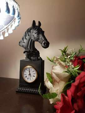 Horse head themed beautiful imported table clock