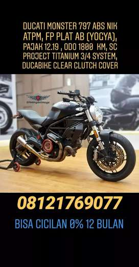 Ducati monster 797 ABS, fp plat AB, odo 1800 km, knalpot SC Project