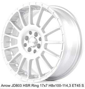 ARROW JD803 HSR R17X7 H8X100-114,3 ET45 SILVER
