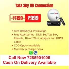 Airtel DTH Tata Sky HD Sun Direct HD New Connection