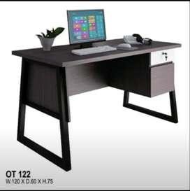 meja kantor minimalis kaki besi 122