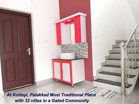 Easy EMI Option - 4 cent Land with Grand Look 3bhk G+1 Villas @Kottayi