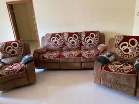 Soft Sofa with Recliner 3+1+1 ( Only Cash)