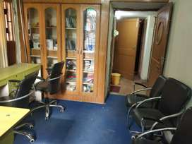 On sharing basis, Well furnished office space with attach bathroom.