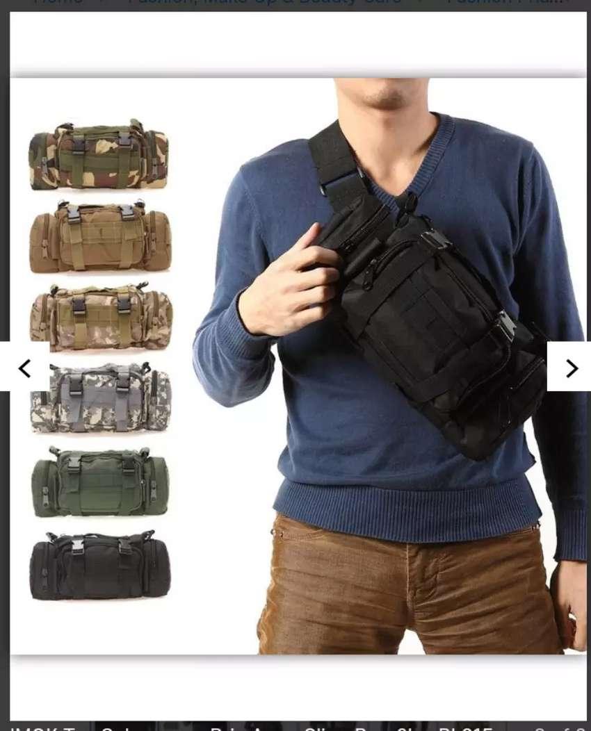 IMOK Tas selempang pria Army Sling Bag 6L BL015 Black 0
