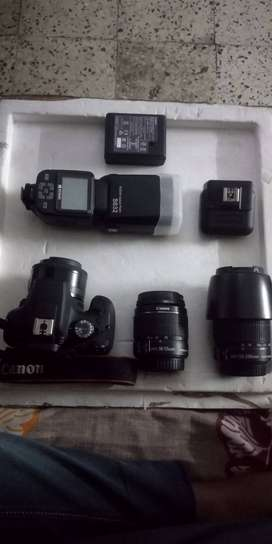 Canon 1500d with 18-55mm,55-250mm,50mm for sale