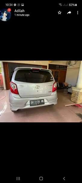 Jual mobil AGYA 1000CC manual 2014 Silver mantap